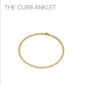 Jewelry - M Jewelers Gold Chain Anklet the curb 10 inch